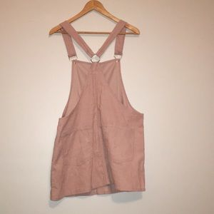 Forever 21 Dresses - Blush Pink Overall Dress, Pinafore